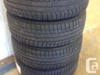 Set of 4 Michelin Latitude 235/65R17X-Ice snow tires
