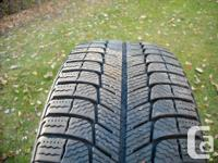 Michelin X ice winter radial tires,215x60x17, purchased