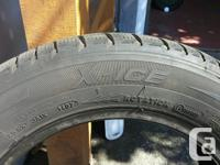 """4 Michelin 185/65/ R15 """"M & S"""" studless tires. Used on"""