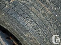 4 Michelin winter tires with rims + one tire (bonus)