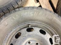 I have a set of 4 Michelin X-Ice winter tires on steel