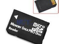 Micro SD TF/MS Memory Stick Pro Duo Card Adapter.