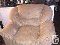 Have for sale a couch and 2 chairs, tan in color, micro