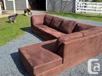 basically new micro suede couch for sale. Only 2.5 yrs