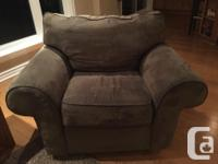 Offering a microfibre 3-seat sofa and matching chair in