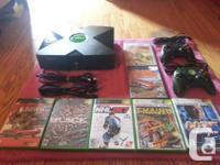 Item = Original Xbox Bundle + 7 Games + 2 Controllers +