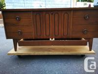 Walnut blanket chest made by Lane in the 1970's. In