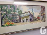 Charming Silkscreen of the Original Watercolor, by Phil