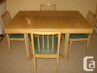 1950's Table among 6 chairs in superb vintage