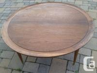Stunning vintage Canadian walnut round coffee table