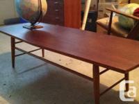"""Vintage teak table made in Sweden """" Tingstoms"""". In good"""