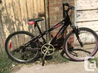 This used Miele youth mountain bike is in decent shape.