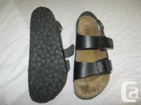 Milano style Birks, have a heel strap for secure