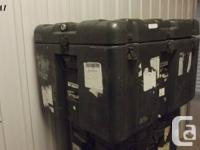 Army surplus storage/transport instances. Perfect for