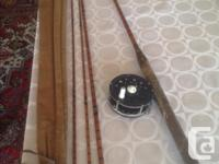 """antique Milward's Specialist fly rod, 9'6"""", extra tip"""