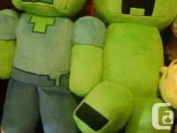 All 7 Minecraft plush characters for $50. All in
