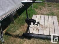 Minn Kota 30 lb thrust. Extension twist tiller. 5