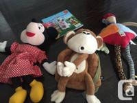 Two disney characters, and Kushies critter toy, like