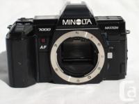Minolta Maxxum 7000 35mm AF Camera Body Only VGC Solid