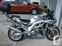 This bike is in excellent condition! Silver in color