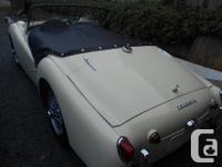 Make Triumph Model TR3 Year 1960 Colour CREAM kms