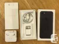 Mint condition iPhone 7 32gb black with box and manual