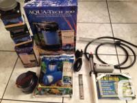 For misc aquarium accessories in mint condition. Price