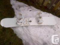 An amazing board:  157 Nitro Frank Montoya set up with