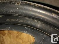 """For sale Mint condition set of 4 Steel Rims 17"""". No"""