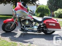 MINT 2002 Fatboy, 11000 km's, custom added features