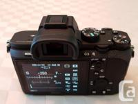 Mint Sony A7ii, less than 300 actuations (yes, I bought