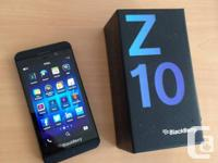 GOT A MINT BLACKBERRY Z10 UNLOCKED BLACK  PHONE IS