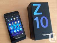 GOT A MINT BLACKBERRY Z10 UNLOCKED BLACK  PHONE IS