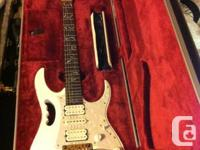 Thanks. up for Grabs is an Ibaneze Steve Vai Jem 7