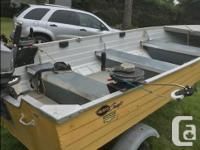14 foot Mirrocraft and galvanized trailer. Comes with a