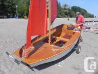 Mirror Dinghy 36803 awaits sail. Integrateded 1972 and