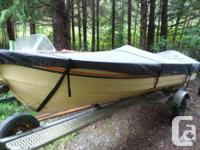 For sale is a 14' Mirrorcraft Deep Fisherman on a Galv