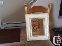 2 Mirrors for sale: Bevelled Gold/Ivory Crackled