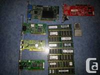 I have a number of misc. Computer parts Memory sticks