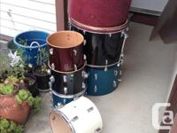 misc drums for sale..I have rims and heads $20 each