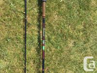Several rods and reels, fishing net for sale. All rods