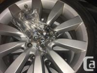 """Stock 18"""" wheels from my 2009 Mitsubishi Lancer. The"""