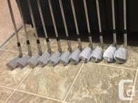 Full set Miura Tournament Blades, 2i-Pw, 53deg wedge,