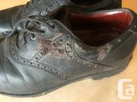 Mizuno leather golf shoes, very comfortable. Has quite