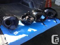 Excellent condition motorcycle helmets, clean inside