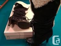 Michael Kors black suede clogs boots. Size 8. Has minor