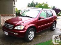 2002 Mercedes Benz ML 320, heated natural leather