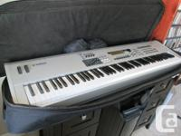 Full package keyboard, amp, stand, bench and bring bag.