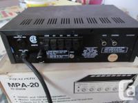 AC mobile PA ,20 watts ,runs on AC or DC ,new in box