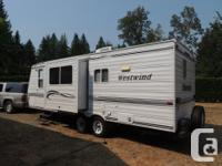 25 Ft. 2002 Westwind Travel Trailer. 1/2 Ton tow-able,